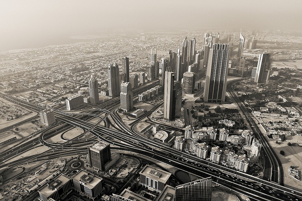 The Dubai Skyline by Vincent Riedweg