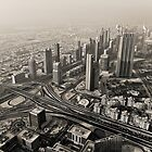 The Dubai Skyline by Vincent Riedweg