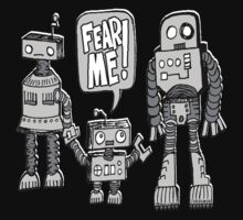 FEAR ME! Robot Kid Kids Tee