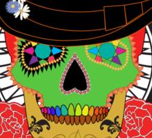 Candy Skull Orange Sticker