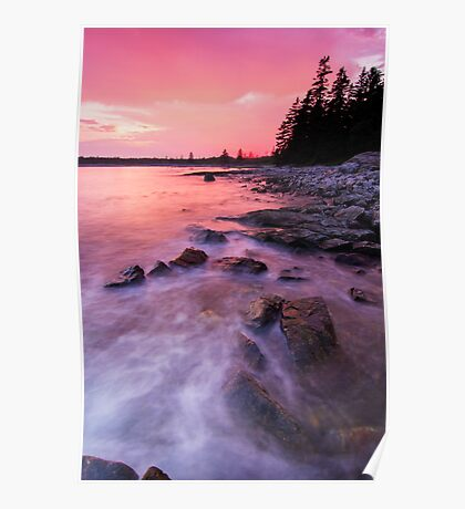 Acadia National Park sunset Poster
