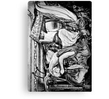 Egyptian Slave with Lover. Canvas Print