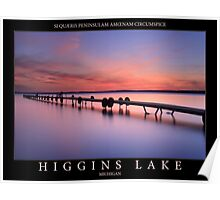 Sunset on Higgins Lake Poster