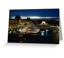 Paris - Louvre Pyramid at Night Greeting Card