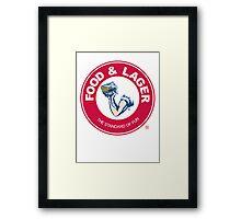 Food & Lager Framed Print