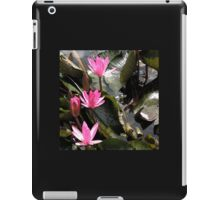 Pink water lilly out. iPad Case/Skin