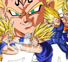 Majin Vegeta vs Goku Sticker