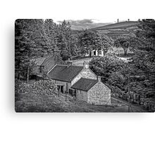Cottages in the Trees - B&W Canvas Print