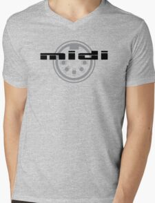 MIDI logo Mens V-Neck T-Shirt