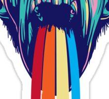 Colourful Monkey Art Sticker