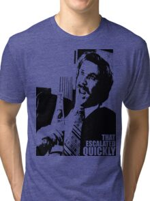 """Ron Burgundy """"That escalated quickly"""" in Anchorman T-Shirt Tri-blend T-Shirt"""
