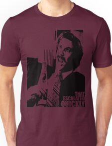 """Ron Burgundy """"That escalated quickly"""" in Anchorman T-Shirt Unisex T-Shirt"""