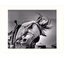 Draft horse at work Art Print