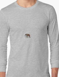 Colourful Elephant Art Long Sleeve T-Shirt