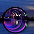 The Falkirk Wheel, top end by Jim Wilson