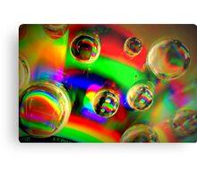 Vibrant Bubbles Metal Print