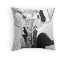 Ink Elephant by Isabella Shearman Throw Pillow
