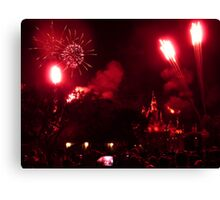 Fireworks at Disneyland Canvas Print