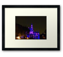 Disneyland Fairytale Castle at Dusk Framed Print