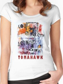 TOMAHAWK - god hates a coward Women's Fitted Scoop T-Shirt