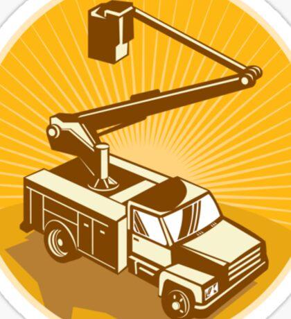 Cherry Picker Bucket Truck Access Equipment Retro Sticker