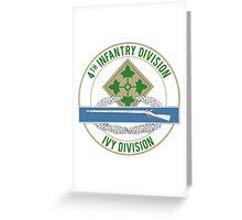 4th Infantry CIB Greeting Card