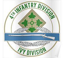 4th Infantry CIB Poster
