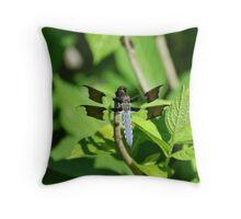 Blue Skimmer Throw Pillow