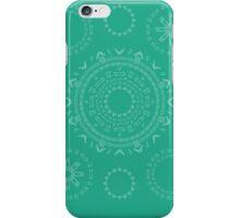 Monogram Pattern (F) in Emerald iPhone Case/Skin
