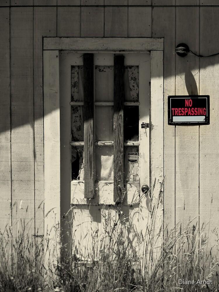 No Trespassing in Waldport, Oregon by Diane Arndt
