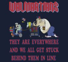 Walmartians Stuck in our checkout line One Piece - Long Sleeve
