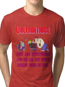 Walmartians Stuck in our checkout line Tri-blend T-Shirt