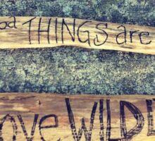 words on wood Sticker