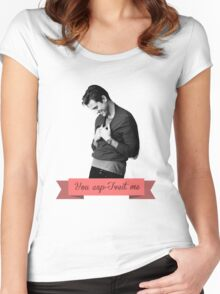 You cap-Tveit me! Women's Fitted Scoop T-Shirt