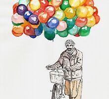 Balloon Seller by Alephredo Muñoz