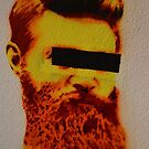 Ned Kelly Graffiti - Southgate at Crown by Helen Greenwood