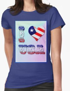 I Love USA Womens Fitted T-Shirt