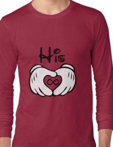 Mickey G-l-o-v-e Couple Shirt Long Sleeve T-Shirt