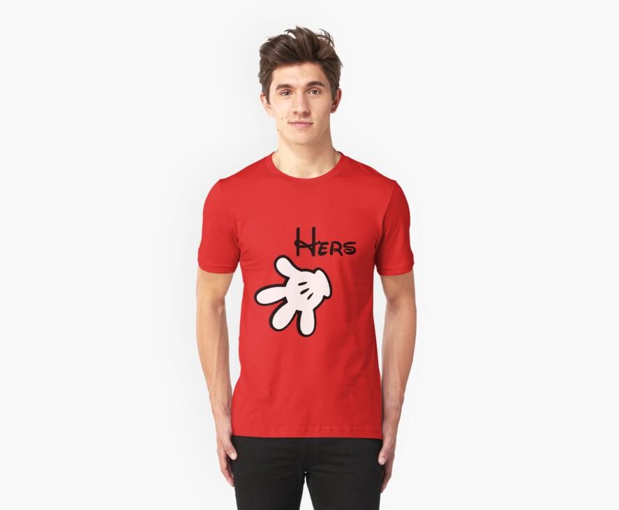Mickey Glove Couple Shirt by taydizzle25
