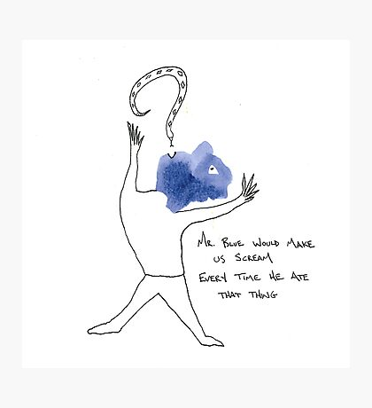 Mr. Blue (a whimsy inkling) Photographic Print