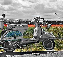 Vespa T5 in English Poppy Field 2 by respectdue