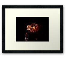 Fireworks at Californifia Framed Print