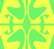 Green & Yellow Design for iPhone & iPad by GJPart