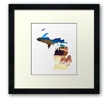 Michigan Beach Framed Print