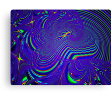 Sliding Phosphenes- Psychedelic Fractal Abstract Canvas Print