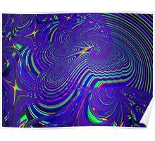 Sliding Phosphenes- Psychedelic Fractal Abstract Poster