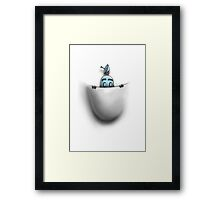 pocket robot Framed Print