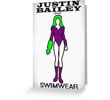 Justin Bailey Brand Swimwear Greeting Card