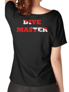 DIVE MASTER WITH SCUBA FLAG Women's Relaxed Fit T-Shirt