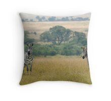 Plains zebras Throw Pillow